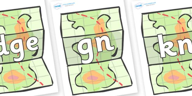 Silent Letters on Maps - Silent Letters, silent letter, letter blend, consonant, consonants, digraph, trigraph, A-Z letters, literacy, alphabet, letters, alternative sounds