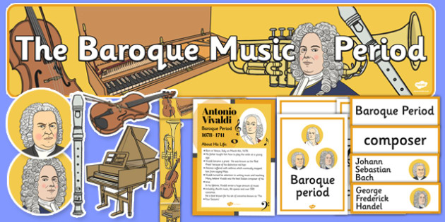 Baroque Period Music Display Pack - baroque, music, display, pack