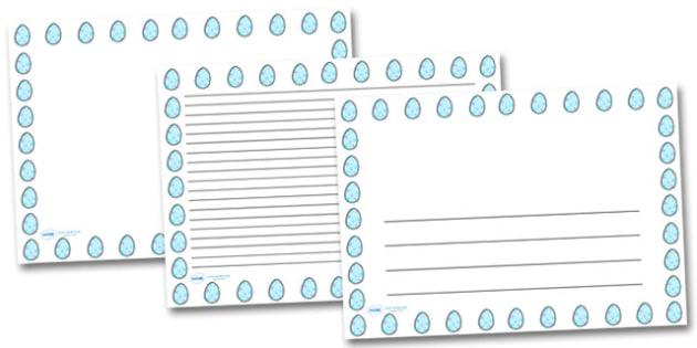Star Easter Egg Landscape Page Borders- Landscape Page Borders - Page border, border, writing template, writing aid, writing frame, a4 border, template, templates, landscape