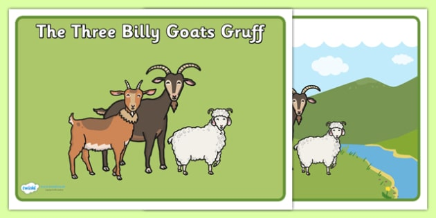 Billy Goats Gruff Primary Resources, traditional - Page 1