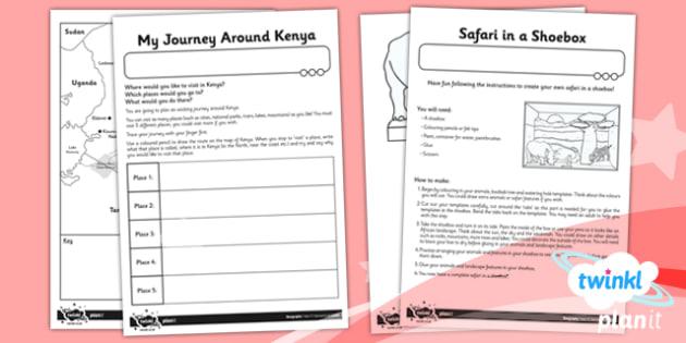 PlanIt - Geography Year 2 - Sensational Safari Unit Home Learning Tasks - planit, geography, safari, year 2