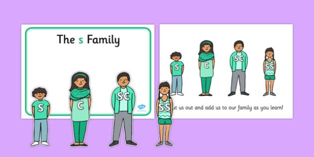 S Sound Family Cut Outs - sound families, sounds, cutouts, cut