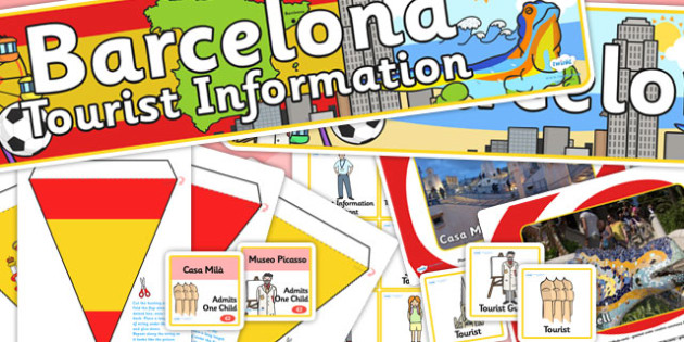Barcelona Tourist Information Office Role Play Pack-barcelona,tourist information, tourist, role play, role play pack, barcelona pack