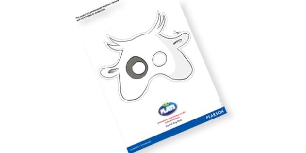 Vivian French Sheep Reading Play Mask - sheep mask, sheep role play, sheep role play mask, animal role play, animal masks, sheep, farm masks, farm