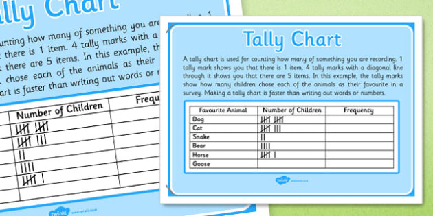 KS1 Year 2 Statistics Display Posters Tally Chart - ks1, year 2, statistics