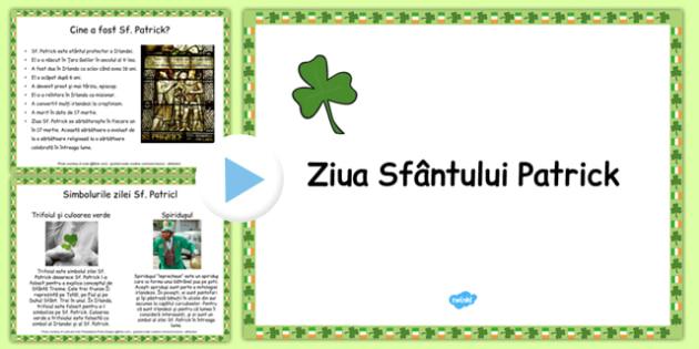 Ziua Sf Patrick, Prezentare PowerPoint informativa - irlanda, romana