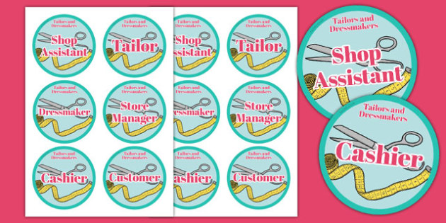 Tailors and Dressmakers Shop Badges - tailors, dressmakers, shop, badges