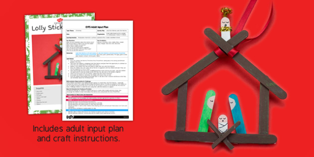Lolly Stick Nativity Craft Adult Input Plan and Resource Pack