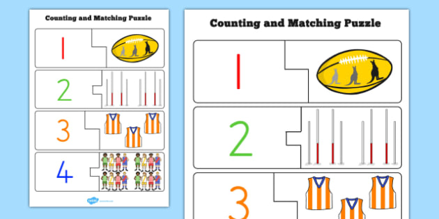 AFL Australian Football League Counting Puzzle - sport, football