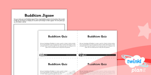 RE: Buddhism Year 4 Unit Home Learning Tasks