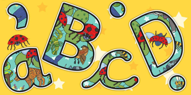 Themed Display Lettering to Support Teaching on The Bad Tempered Ladybird - letters