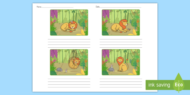 The Lion and the Mouse Storyboard Template - australia, mouse