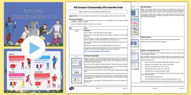 European Championships 2016 Assembly Pack