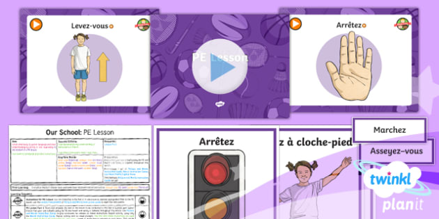 French: Our School: PE Year 3 Lesson Pack 4