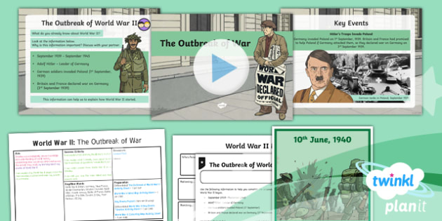 History: World War II: The Outbreak of War LKS2 Lesson Pack 1