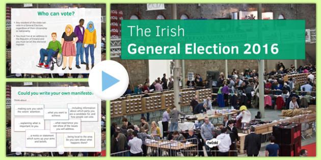 Irish General Election 2016 Information PowerPoint - Irish general election, election, Irish government, Dáil Éireann, voting