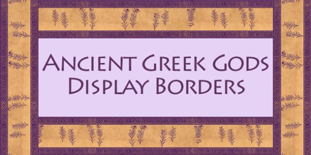 Ancient Greek Gods Display Borders - ancient greece, border