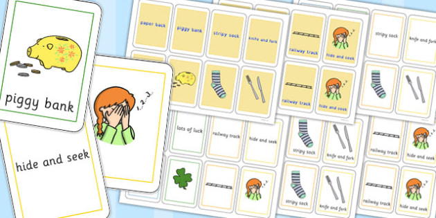 Three Syllable Final K Sound Playing Cards - final k, sound, card