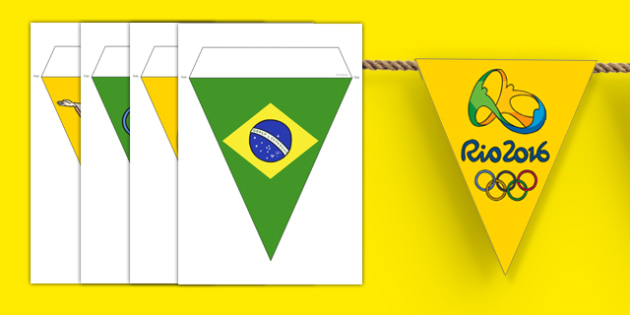 Rio Olympics 2016 Bunting - rio olympics, 2016 olympics, rio 2016, bunting, display