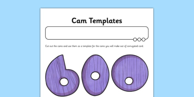 Automata Animals - Cam Templates Activity Sheet - mechanical systems, automata animals, worksheet