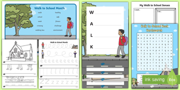 Walk to School Month KS1  Activity Pack