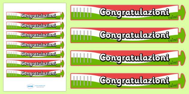 Wristband Awards (Italian) - Italian, Italy, well done, wristband, band, award, reward, award, certificate, medal, rewards, school reward, MFL, Modern Foreign Languages, foundation, languages
