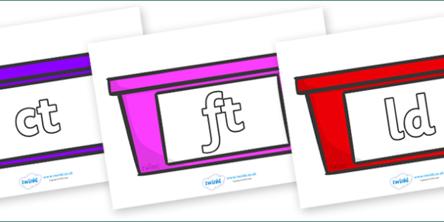 Final Letter Blends on Trays - Final Letters, final letter, letter blend, letter blends, consonant, consonants, digraph, trigraph, literacy, alphabet, letters, foundation stage literacy