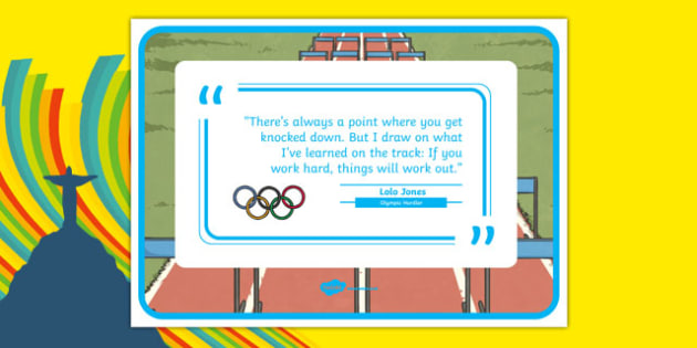 Olympic Themed Inspirational Quote Lolo Jones - usa, america, olympics, rio olympics, 2016 olympics, rio 2016, inspirational quote, lolo jones