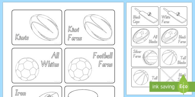 New Zealand Sports Teams Group and Table Signs - New Zealand, Back to School, sports, group, teams