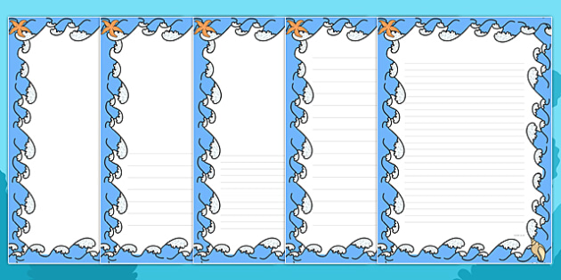 Sea Themed Page Borders - sea, themed, page borders, borders