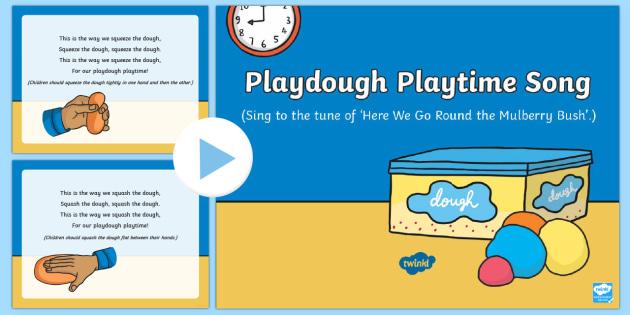 Playdough Playtime Song PowerPoint - Playdough Play, dough disco, finger gym, fine motor skills, physical development, songs
