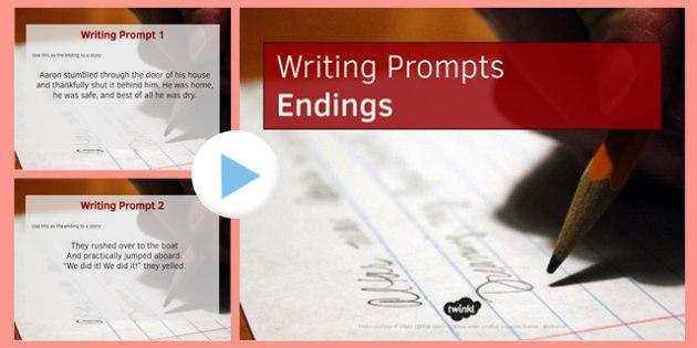 Ten Endings for Writing Prompts - ten, endings, writing, prompts