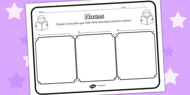 Nouns Comprehension Worksheet nouns comprehension – Comprehension Worksheet