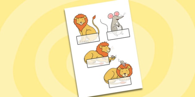 The Lion And The Mouse Editable Self Registration - self reg