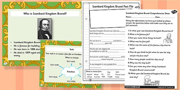 Isambard Kingdom Brunel Task Setter Powerpont and Activity Pack
