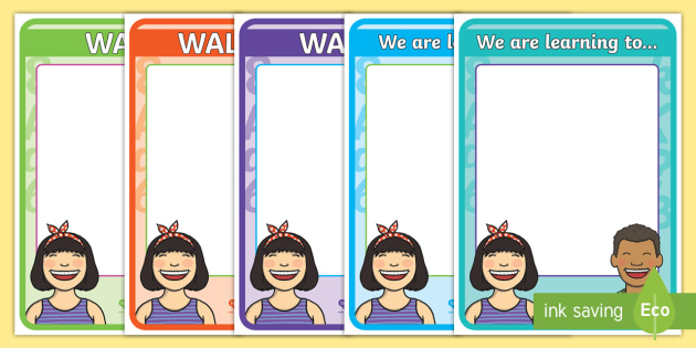 WALT Display Posters - New Zealand Class Management, learning intention, WALT, dipslay