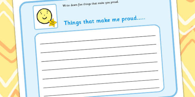 Write Down 5 Things That Make You Proud - write, proud, feelings