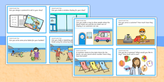 Sea Side Souvenir Shop Role Play Challenge Cards - challenge card