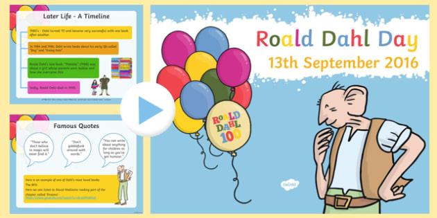 Roald Dahl 100 SEN Information PowerPoint