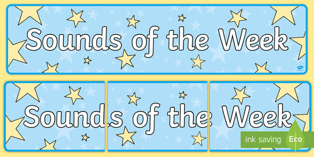 Sounds of the Week Display Banner - Sounds of the Week Display Banner - sounds of the week display banner, sound, of the week, display b