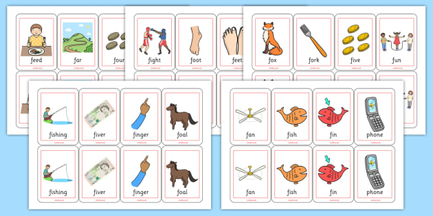 Initial f Sound Playing Cards - initial f, sounds, playing cards
