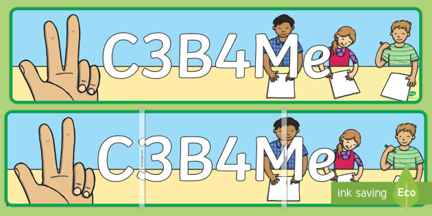 C3B4Me Display Banner - New Zealand Back to School, C3B4Me, see 3 before me, banner, display, independent learning
