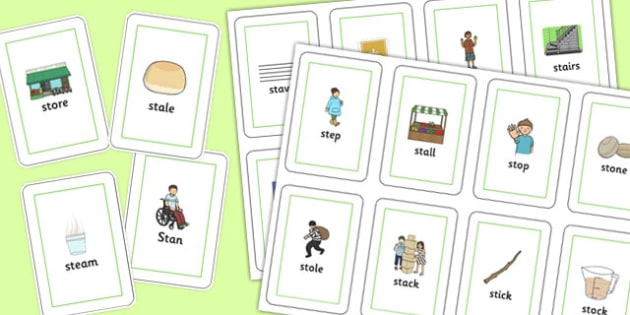 Initial 'st' Blend Playing Cards - initial st, blend, playing, cards