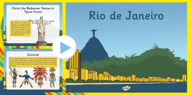 Rio de Janeiro Information Powerpoint - Brazil, Rio 2016, information, rio, olympics, powerpoint