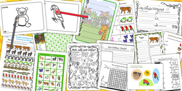 Jungle Activity Pack - activities, classroom activities, games