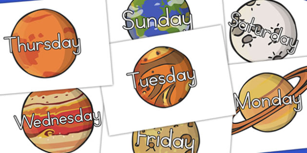 Days Of The Week Planets (Australia) - planet, visuals, displays