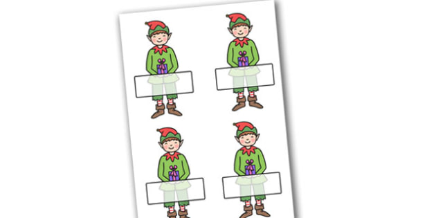 Christmas Self Registration Boy Elf Editable  - christmas, xmas