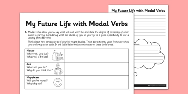 My Future Life with Modal Verbs - GPS, Modal, Auxiliary, my future life, modal verbs