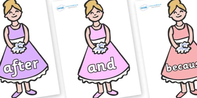 Connectives on Bridesmaids - Connectives, VCOP, connective resources, connectives display words, connective displays