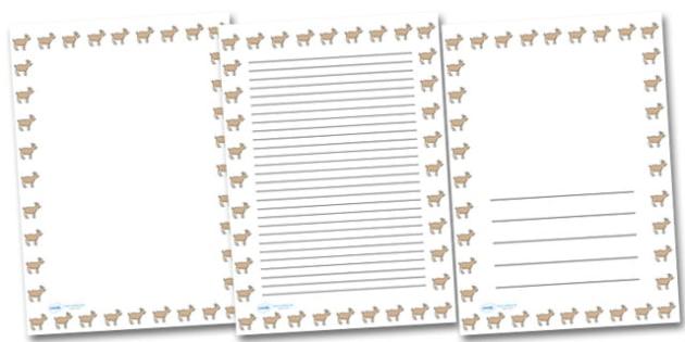 Goat Portrait Page Borders- Portrait Page Borders - Page border, border, writing template, writing aid, writing frame, a4 border, template, templates, landscape